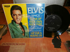 "elvis presley""clean up your own.""rca label:noir-47.9747""single7"".australien 7/69"