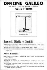 PUBBLICITA' OFFICINE GALILEO  FIRENZE GIROSCOPIO DI TESSEL 1930
