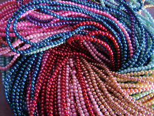 150pcs Assorted Top Quality Czech Glass Pearl Round Beads Mixed Colors 3mm