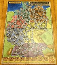 Power Grid Replacement Original Germany / USA Game Board Map - Not Complete Game