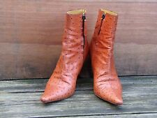 GORGEOUS! Giuseppe Zanotti Ostrich Rusty brown Leather Boots EU 37/UK 4