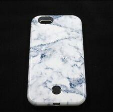3D Marble Luxury LED Light Up Selfie Luminous Phone Back Cover Case For iphone
