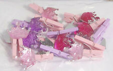 Artesanías para Clavijas de madera Mini ocasiones, con coronas, paquete de 15