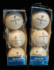 2 vintage sleeves of Signature Logo Doug Sanders Ram cutless cover Golf Balls