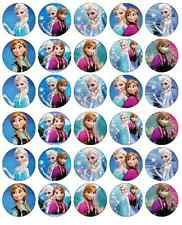 Frozen Anna And Elsa Cupcake Toppers Edible Wafer Paper BUY 2 GET 3RD FREE