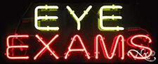 "BRAND NEW ""EYE EXAMS"" 32x13x3 REAL NEON SIGN w/CUSTOM OPTIONS 10542"