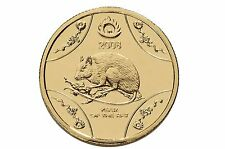 2008 $1 Lunar Series Year of the Rat Australian One Dollar Coin UNC in card