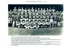 1969 NEW YORK GIANTS  8X10 TEAM PHOTO FRAN TARKENTON  FOOTBALL NFL HOF