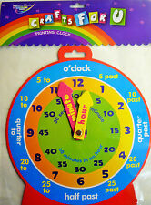 Crafts for U Learn to Tell the Time Educational Colourful Clock
