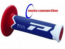 New ProGrip Honda CR CRF 85 125 150 250 450 500 Blue/Red Grips Motocross Enduro