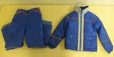 Vintage Hot Gear Fully Insulated 2-Piece Ski/Snow Suit Girls Size 12 LOOK
