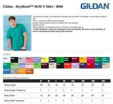 20 Blank Gildan DryBlend 8000 T-Shirt Wholesale Lot ok to mix XXL-5XL & Colors