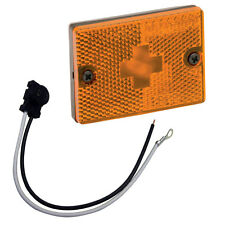 """Wesbar Amber Sidemarker Clearance Light w/18"""" Pigtail"""