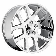 "Set (4) 22"" 22x10 Chrome SRT10 Style Fits 2002 to current Dodge Ram Wheels Rims"