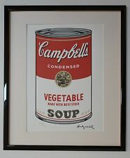 "Andy Warhol Campbell's Soup ""Vegetable"" Lithograph Limited 3000 pcs."