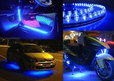 Auto Decorative Accessories 24CM 24LED Blue Waterproof Flexible Strip Car Light