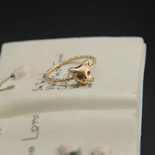 Fashion Gold Succinct Plated  Cute Cat Ring JZ007701