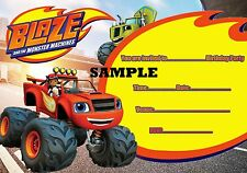 Blaze and the Monster Trucks A5 Party Invitations on Glossy Paper x 20 (Envelope