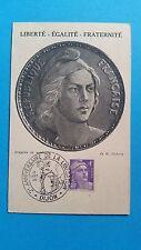 FRANCE CARTE MAXIMUM YVERT 718 MARIANNE GANDON 4F DIJON 1946 L 363