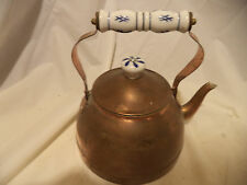 Vintage copper teapot great for decorating country kitchen
