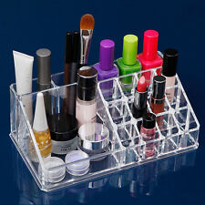 16 Compartment Cosmetic Organiser Clear Acrylic Make Up Lipstick Holder Storage