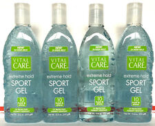 Vital Care Extreme Hold SPORT Hair Gel UV Protection Humidity Resistant 4 Pack