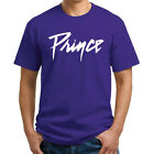 Prince Purple Rain Logo MENS Tribute T-Shirt - Purple/White Unisex Memorial Tee