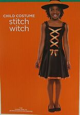 Stitch Witch Halloween Costume Pretty Sequins Shiny Velour Size Medium 6 8