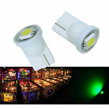 10x #555 T10 1 SMD 5050 LED Pinball Machine Light Bulb Green AC/ DC 6.3V