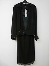 GINA BACCONI BLACK EVENING 3 PIECE TROUSER SUIT    UK 14     BNWT