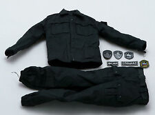 1/6 DAM OSN Saturn Jail Spetsnaz Black Combat Uniform w/ Patches
