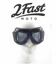 2FastMoto Roadhawk Goggles Riding Cafe Racer Scooter Moped Vespa CFMoto