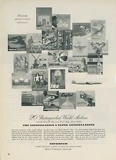 1952 Lockheed Aircraft Ad 20 Airlines that Use Super Constellation Airplanes