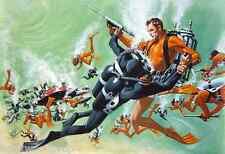 SEAN CONNERY JAMES BOND 007 THUNDERBALL SCUBA DIVING DIVER ART ARTWORK POSTER
