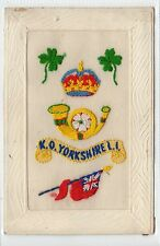 KINGS OWN YORKSHIRE LIGHT INFANTRY: Embroidered Silk postcard (C16515)