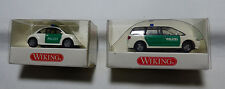 Wiking - H0 1:87 -104 07 27 Ford Galaxy Polizei  + 104 10 27 New Beatle Polizei