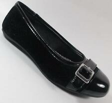 NEW Girl's Youth's RACHEL SHOES ELIZA BLACK Slip On  Flats Dress Shoes SZ 4