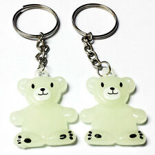 10X Key Ring Glow in Dark Bear Pinata Birthday Party Favors Gift Novelty Prize