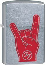 Zippo Foo Fighters Album Cover Art Red Hand Rock Sign Street Chrome 29476 *NEW*