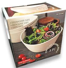 Bols en porcelaine de servir salade blanche, soupe, le riz.. boîte contient 3 plats