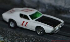 Aurora AFX Magnatraction Dodge Charger NASCAR stocker White & Black  HO Slot Car