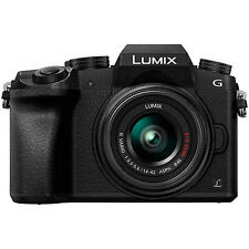 Panasonic Lumix DMC-G7 Compact System Camera with 14-42mm OIS Lens, 4K, 16MP