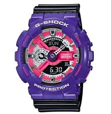 Casio G Shock * GA110NC-6A Anadigi Gloss Violet Black Gshock Watch COD PayPal
