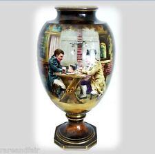 Royal Bonn Germany large tall hp vase - circa 1900 FREE SHIPPING