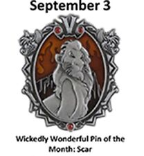 Disney Parks Wonderfully Wicked Lion King's Villain SCAR LE Pin of the Month
