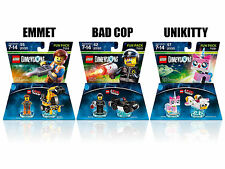 (3 pack) Lego Dimensions EMMET, BAD COP UNIKITTY Fun Packs (Ships for Free)