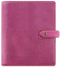 Filofax Malden A5 Taille Organiseur Rose Fuschia Real Buffalo Journal En Cuir