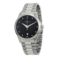 Gucci G-Timeless Black Dial Diamond Unisex Watch YA126456