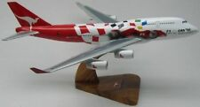 B-747 Qantas Formula One F-1 F1 B747 Airplane Desktop Kiln DryWood Model BIG
