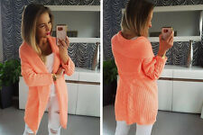 Women Cardigan Jumper Knitwear Sweater NEW 8 10 12 Apricot